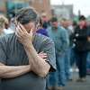 Globe/Roger Nomer<br /> Michael Knight, a chaplain with Avalon Hospice, prays before Friday's Walk of Silence.