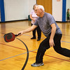 Globe/Roger Nomer<br /> Randy Lee plays a game of pickleball on Wednesday at the Joplin Family Y South during the National Senior Health and Fitness Day event. Freeman Advantage and the Joplin Family Y hosted the event, which promoted healthy lifestyle programs for seniors.