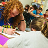 Globe/Roger Nomer<br /> Lillian Ziler, sixth grade, studies on Tuesday at Jasper Elementary.