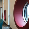 Globe/Roger Nomer<br /> The new childrens room at the Joplin Public Library features padded reading nook windows.