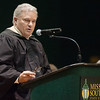 Greg Arend of Deloitte & Touche, LLP in Tulsa, addresses the graduating class at Missouri Southern during commencement ceremonies on Saturday at MSSU.<br /> Globe | Laurie Sisk