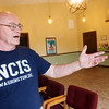 Globe/Roger Nomer<br /> Tom Brown talks about improvements around the Stone's Throw Theatre on Tuesday.