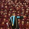 Globe/Roger Nomer<br /> Joplin High School Principal Brandon Eggleston gives last minute directions to graduates before Sunday's ceremony at the Leggett and Platt Athletic Center.