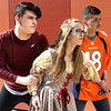 "From the left: Joplin High School thespians Matthew Green (Lysander,) Bailee Lewis (Hermia) and Michael Rivera (Demetrius) rehearse their outdoor production of  ""A Midsummer Night's Dream"" on Tuesday at JHS. The play opens Friday at the outdoor theatre at JHS.<br /> Globe 
