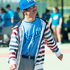 Andrew Ferguson smiles as he runs to first base during Miracle League action on Saturday at the Will Norton Field of Dreams.<br /> Globe | Laurie Sisk