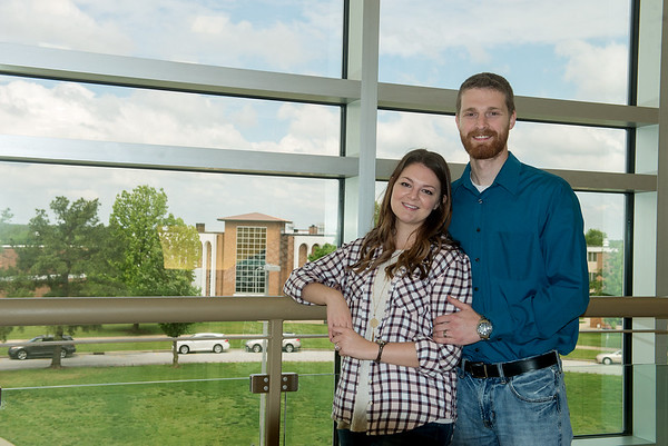 Globe/Roger Nomer<br /> Abby and Jeff Terry will graduate from Missouri Southern with nursing degrees.