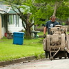 A Sproul's Construction worker scores pavement in preparation for work on 16th Street near Pearl Avenue late last month.<br /> Globe | Laurie Sisk