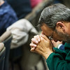 Globe/Roger Nomer<br /> Nelson Horton, superintendent at College Heights Christian School, prays during Thursday's National Day of Prayer at Joplin City Hall.