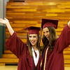 Globe/Roger Nomer<br /> Keeley Fancher, left, and Taylor Robinson pose for a photo before Sunday's Joplin High graduation at the Leggett and Platt Athletic Center.