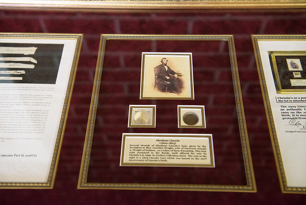 Strands of Abraham Lincoln's hair will be among the items on diplay at the Joplin History museum.<br /> Globe | Roger Nomer