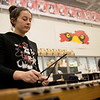 Emma Nordstrom, Webb City High senior, practices with the band on Friday at Webb City.<br /> Globe | Roger Nomer