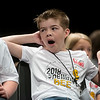 Lane Carnes, a fourth grader from Avilla, waits his turn to spell during Monday's 2018 Joplin Globe Spelling Bee at Thomas Jefferson Independent Day School.<br /> Globe   Roger Nomer