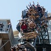 Riders take on the initial 100-foot plunge of the Time Traveler roller coaster at Silver Dollar City on Tuesday.<br /> Globe | Roger Nomer