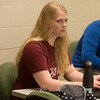 Bethany Ames, a Missouri Southern senior from Granby, takes notes during a human resources management class on Tuesday at MSSU.<br /> Globe   Roger Nomer