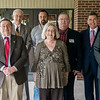 (from left) Joplin City Council candidates Anthony Monteleone, Harvey Hutchinson, Morris Glaze, Joshua Bard, Diane Reid Adams, Steve Urie, Ryan Stanley and Doug Lawson.<br /> Globe | Roger Nomer