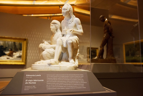 Artwork information is now diplayed in both English and Spanish in the redesigned Early American Art Galleries at Crystal Bridges.<br /> Globe   Roger Nomer