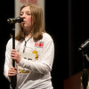 Ruby Knight, a sixth grader from Trinity Lutheran Elementary in Freistatt, spells a word during Monday's 2018 Joplin Globe Spelling Bee at Thomas Jefferson Independent Day School. Knight took third place in the competition.<br /> Globe | Roger Nomer