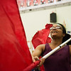 Shay Olabiyi, Webb City High junior, practices with the band on Friday at Webb City High School.<br /> Globe | Roger Nomer