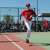 Mikayla Fauss runs to first base during a game at the Joplin Miracle League on Saturday, April 30. After a surgery to relieve the spasticity in her lower body from cerebral palsy, Fauss is now able to run freely.<br /> Globe | Roger Nomer