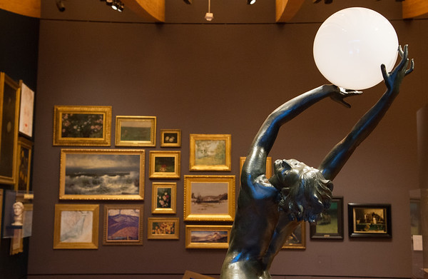"""Harriet Whitney Fishmuth's """"The Bubble"""" is on diplay in the salon-style Early American Art Gallery at Crystal Bridges.<br /> Globe 