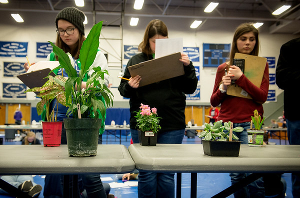 Students identify plants at Aggie Day at Crowder College on Thursday.<br /> Globe   Roger Nomer