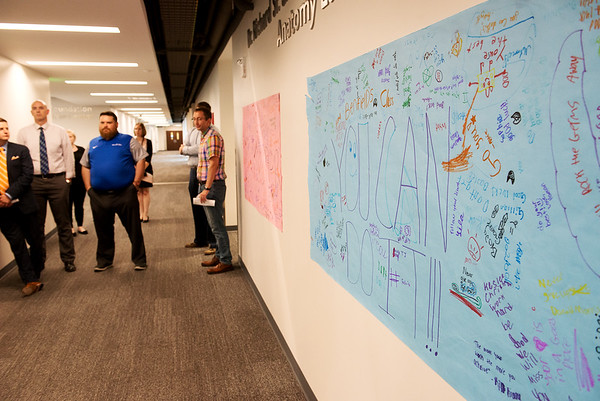 Irving Elementary students have made posters encouraging KCU students for the end of the year.<br /> Globe | Roger Nomer