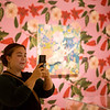 """Anna Valdez proudly Instagrams her work in """"The Beyond: Georgia O'Keeffe & Contemporary Art"""" at Crystal Bridges Museum of American Art on Thursday.<br /> Globe 