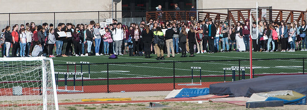 Joplin High students join in national protests against gun violence on Wednesday at Joplin High School.<br /> Globe | Roger Nomer