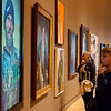 Eathen Felts, 12, Branson, looks over a series of portraits that begin the Early American Art Galleries on Thursday at Crystal Bridges.<br /> Globe | Roger Nomer