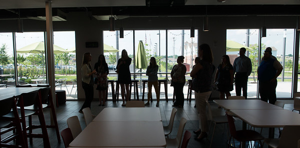 Members of the Young Professionals Network take a tour of Kansas City University of Medicine and Biosciences on Tuesday.<br /> Globe   Roger Nomer