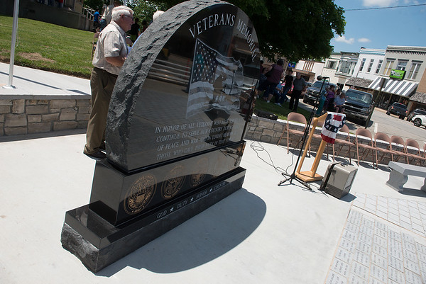 The Columbus Veterans Memorial was dedicated on May 18.<br /> Globe | Roger Nomer