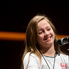 Shaelyn Largent, a fifth grader from Pineville Elementary, expresses doubt about the spelling of a word during Monday's 2018 Joplin Globe Spelling Bee at Thomas Jefferson Independent Day School.<br /> Globe | Roger Nomer