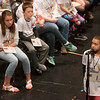 Lillyana Williamson, a fifth grader at Alexander Elementary in Commerce, starts off during Monday's 2018 Joplin Globe Spelling Bee at Thomas Jefferson Independent Day School.<br /> Globe | Roger Nomer