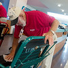 Lee Roy Cristy sanitizes a wheelchair at Freeman Hospital on Friday.<br /> Globe   Roger Nomer