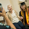 Corrinne Grosse poses for a photo with her great granddaughter Maici Craig on Friday at Spring River Christian Village. Both women are Carl Junction High School valedictorians.<br /> Globe | Roger Nomer