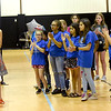 Joined by kids at the Boys and Girls Club of Southwest Missouri, board member Shelly Kraft applauds donors at a gathering for the unveiling of a plan for a $4 million expansion on Tuesday at the club. <br /> Globe | Laurie Sisk