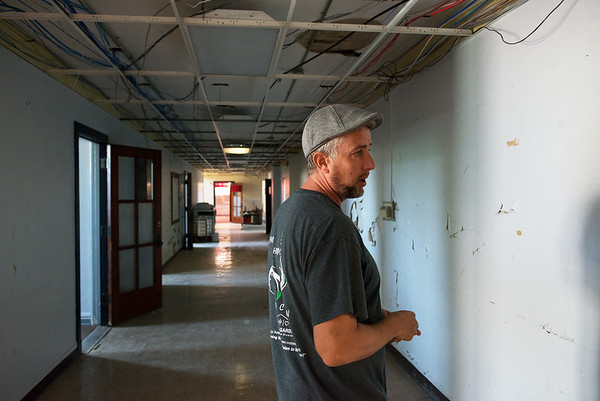 Travis Hurley talks about renovating the former Washington Education Center into transitional family housing.<br /> Globe | Roger Nomer