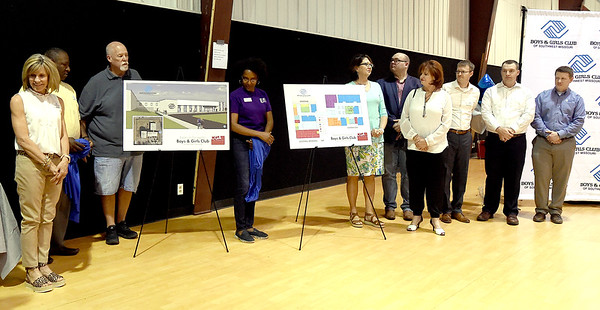 Donors and community members gather for the unveiling of the plan for a $4 million expansion of the Boys and Girls Club of Southwest Missouri on Tuesday at the club. <br /> Globe | Laurie Sisk