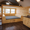 Interior of the rustic tiny house at Crowder Technical Education Center.<br /> Globe | Roger Nomer