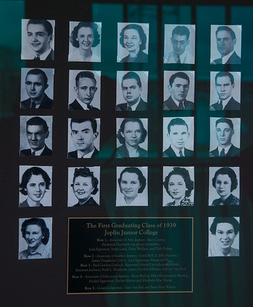 Enos Currey, pictured top left corner, graduated with the first class from Joplin Junior College in 1939.<br /> Globe | Roger Nomer