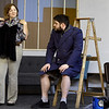 "From the left: Kaitlin Morrill (Cory) and Zach Bradley (Paul) rehearse their roles for the Stone's Throw Theatre production of ""Barefoot in the Park"" on Wednesday night at Stone's Throw.<br /> Globe 