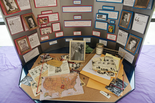 Thomas Jefferson High School students won the Joplin Regional History Prize from Historic Murphysburg with their project on Bonnie and Clyde.<br /> Globe | Roger Nomer