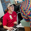 Jim Rhea helps out a visitor to Freeman Hospital on Friday.<br /> Globe   Roger Nomer