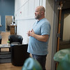 Matt Ingle, director of the Washington Hope Center, gives a tour of the commons area on Tuesday.<br /> Globe | Roger Nomer