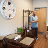 Matt Ingle, director of the Washington Hope Center,give a tour of a family room at the center on Tuesday.<br /> Globe | Roger Nomer
