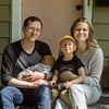 The Kinzer family (shown from left) Jesse, Elliott, 3, and Stevie welcomed newborn Emmerson to the family amid the COVID-19 pandemic.<br /> Globe | Roger Nomer