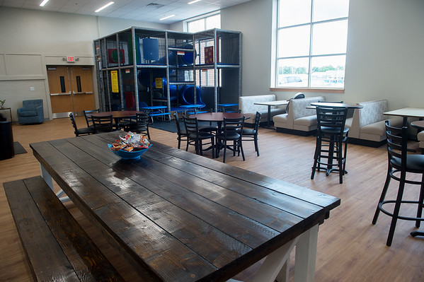 The common room at the Washington Hope Center includes an indoor playground. Globe | Roger Nomer