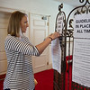 First Presbyterian Church of Joplin has instituted safety guidelines for people returning to church, as shown by Rev. Kira Anderson, co-pastor at the church, on Friday.<br /> Globe | Roger Nomer
