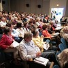 BEN GARVER — THE BERKSHIRE EAGLE<br /> A large crowd gathered for Berkshire Supergenerians: A Forum for Seniors at the Berkshire Museum. The forum focuses on health and maintaining quality of life over time.