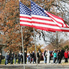 Globe/Roger Nomer<br /> A line of voters wait outside Royal Heights United Methodist Church on Tuesday afternoon.